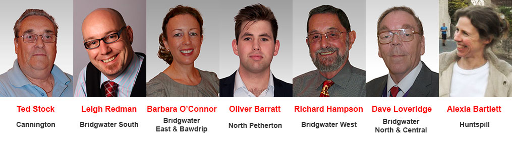 Labour candidates for the crucial 7 Bridgwater divisions