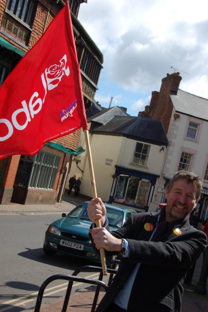 """lab flag""""In the light of a county-wide fight-back by Labour, they're terrified they'll lose a county they've taken for granted for decades."""""""