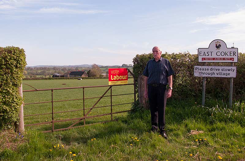 Labour's Murray Shepstone on the site of the proposed development that could bring chaos to rural South Somerset