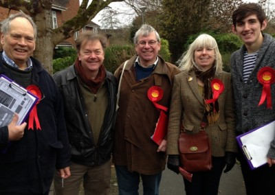 Somerton and Frome Team Labour. David Oakensen centre